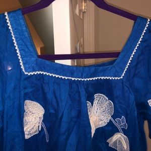 JCrew Linen Dress - Floral Print